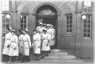 Front of Administration -Nurses finishing for the day -1960's