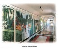 A typical Corridor with Murals painted on the walls
